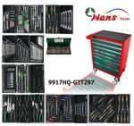 HANS työkaluvaunu 7 laatikkoa, osaa 297 sarja työkalua