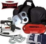 accessories set TORBA OFF ROAD LAWETA- set of: belt 9m, small Air Compressor, shackle 7/8 x 2pc, block 8T, gloves x 1pc