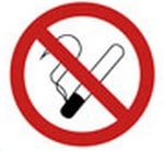 Sticker No Smoking 11cm
