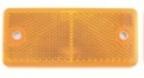 dob34a-z keltainen heijastin 90x40mm ruuvit + tarra