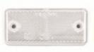 dob34a-b valkoinen heijastin tarra 90x40mm ruuvit + tarra