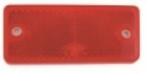 dob34a-cz punainen heijastin 90x40mm ruuvit + tarra