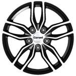 Carwel Alloy Wheel Epsilon Black Pol, 16x6. 5 5x114. 3 ET45 middle hole 67