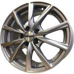 Carwel Alloy Wheel Gamma Silver, 15x6. 0 5x100 ET38 middle hole 57