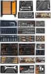 työkaluvaunu työkaluilla,10 vetolaatikkoa, 482 työkalua