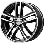 Carwel Alloy Wheel Nero Black Pol, 16x6. 5 ET middle hole 57