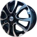 Carwel Alloy Wheel Nuke Black Pol, 16x6. 0 ET middle hole 60