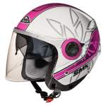 kiiver lahtine SMK SWING ESSENCE GL192 värv valge/roosa/hõbedane, suurus XL naiste