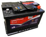 starter battery 70Ah 720A 278x175x190 AGM warranty 3a! -+