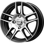 Carwel Alloy Wheel Lama Black Pol, x0. 0 ET middle hole