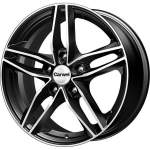 Carwel Alloy Wheel Tau Black Polished, x0. 0 ET middle hole