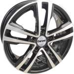 Carwel Alloy Wheel Allaki Black Pol, x0. 0 ET middle hole