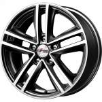 iFree Alloy Wheel Katar Black Pol, x0. 0 ET middle hole