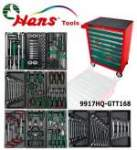HANS työkaluvaunu 7 laatikkoa, osaa 168 sarja työkalua