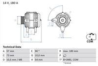 BOSCH  Generaator 14V 0 986 082 200