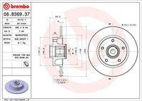BREMBO  Piduriketas BEARING DISC LINE 08.B369.37