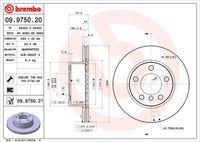 BREMBO  Piduriketas COATED DISC LINE 09.9750.21