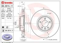BREMBO  Piduriketas COATED DISC LINE 09.C514.11