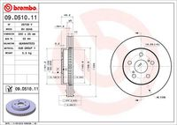 BREMBO  Piduriketas COATED DISC LINE 09.D510.11