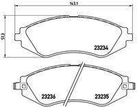 BREMBO  Piduriklotsi komplekt, ketaspidur P 15 002