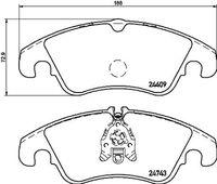 BREMBO  Piduriklotsi komplekt, ketaspidur P 24 161