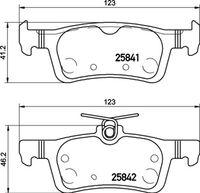 BREMBO  Piduriklotsi komplekt, ketaspidur P 24 204