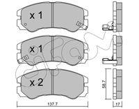 CIFAM  Piduriklotsi komplekt, ketaspidur 822-357-0