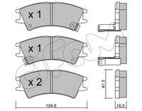 CIFAM  Piduriklotsi komplekt, ketaspidur 822-361-0