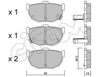 CIFAM  Piduriklotsi komplekt, ketaspidur 822-362-0