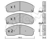 CIFAM  Piduriklotsi komplekt, ketaspidur 822-374-0