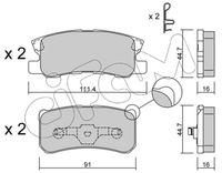 CIFAM  Piduriklotsi komplekt, ketaspidur 822-400-1