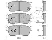 CIFAM  Piduriklotsi komplekt, ketaspidur 822-415-0