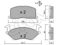 CIFAM  Piduriklotsi komplekt, ketaspidur 822-422-0