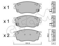 CIFAM  Piduriklotsi komplekt, ketaspidur 822-475-0