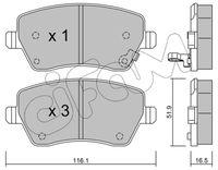 CIFAM  Piduriklotsi komplekt, ketaspidur 822-485-1