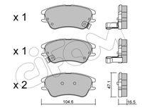CIFAM  Piduriklotsi komplekt, ketaspidur 822-502-0