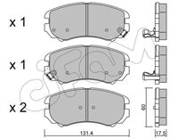 CIFAM  Piduriklotsi komplekt, ketaspidur 822-503-0