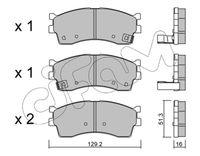CIFAM  Piduriklotsi komplekt, ketaspidur 822-512-0