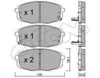 CIFAM  Piduriklotsi komplekt, ketaspidur 822-513-0