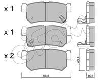 CIFAM  Piduriklotsi komplekt, ketaspidur 822-519-0