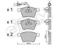 CIFAM  Piduriklotsi komplekt, ketaspidur 822-550-0
