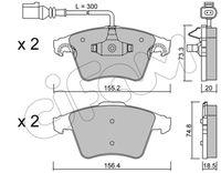 CIFAM  Piduriklotsi komplekt, ketaspidur 822-552-2