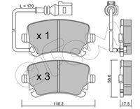 CIFAM  Piduriklotsi komplekt, ketaspidur 822-554-0