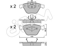 CIFAM  Piduriklotsi komplekt, ketaspidur 822-558-0