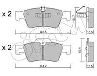 CIFAM  Piduriklotsi komplekt, ketaspidur 822-568-1