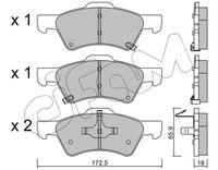 CIFAM  Piduriklotsi komplekt, ketaspidur 822-623-0