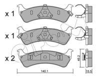 CIFAM  Piduriklotsi komplekt, ketaspidur 822-628-0