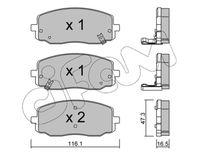 CIFAM  Piduriklotsi komplekt, ketaspidur 822-629-0