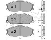 CIFAM  Piduriklotsi komplekt, ketaspidur 822-632-0