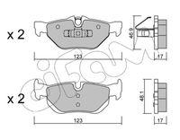 CIFAM  Piduriklotsi komplekt, ketaspidur 822-642-0